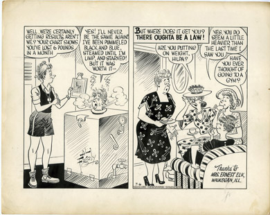 AL FAGALY - OUGHTA BE A LAW DAILY ORIG ART  WEIGHT LOSS