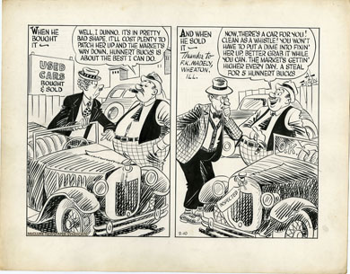 AL FAGALY -OUGHTA BE A LAW DAILY ORIG ART USED CARS