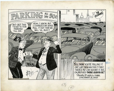 AL FAGALY -OUGHTA BE A LAW DAILY ORIG ART DAY PARKING