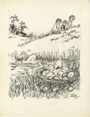 WIN MORTIMER - Orig EDITORIAL Art - NATURE VANDALS 1983