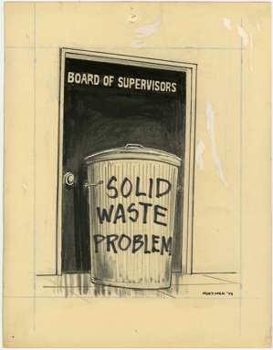 WIN MORTIMER - Orig EDITORIAL Art SOLID WASTE 1973
