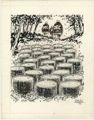 WIN MORTIMER - Orig EDITORIAL Art - NYS D.E.C. 1986