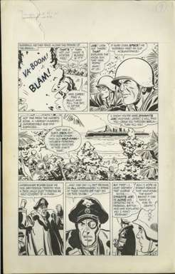 BILL DRAUT - WARFRONT #40 Pg 9 ORIG ART HALF-FACE