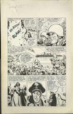 BILL DRAUT - WARFRONT #40 Pg 9 ORIG ART HALF-FACE