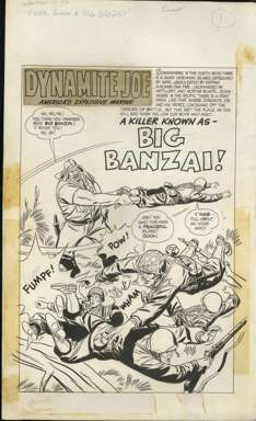 BILL DRAUT - WARFRONT #40 Pg 1 ORIG ART TITLE PAGE!
