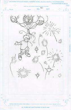 CRAIG ROUSSEAU -GEN X COLORING BOOK p30 ART FIREWORKS