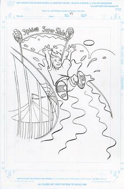 CRAIG ROUSSEAU - GEN X COLORING BOOK p43 ART SPIDEY