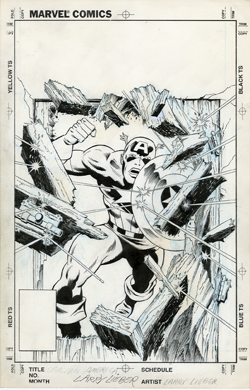 LARRY LIEBER - Orig CAPTAIN AMERICA COVER ART