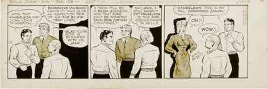 ZACK MOSLEY - SMILIN' JACK DAILY ORIGINAL ART 1-28-52