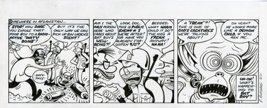 PETER BAGGE - ADVENTURES OF BAT BOY DAILY #2 ORIG ART