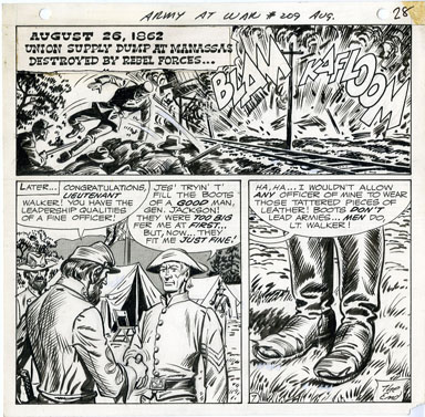 FRED RAY - OUR ARMY AT WAR #209 PAGE 28 ORIGINAL ART