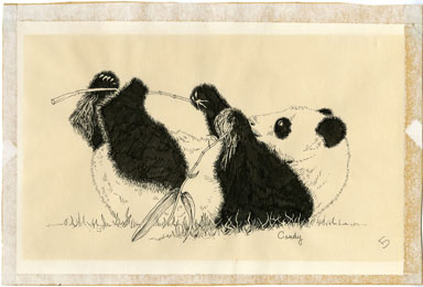 CANDY THROCKMORTON - ANABOLIS INSANIA PANDA ORIG ART