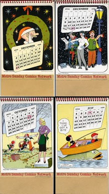 COMIC STRIP DESK CALENDAR (Metro Comics Network, 1955)