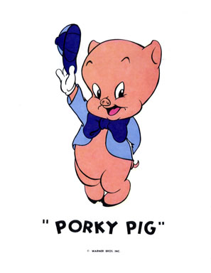 PORKY PIG - WB CARTOON ANIMATION PROMO PRINT (1971)
