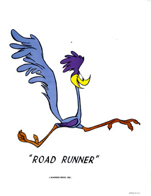 ROAD RUNNER - WB CARTOON ANIMATION PROMO PRINT (1971)