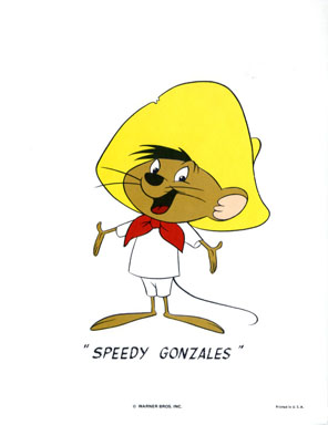 SPEEDY GONZALES - WB CARTOON ANIMATION PROMO PRINT 1971