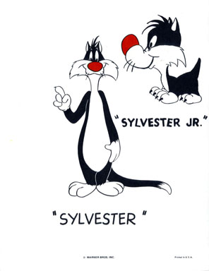 SYLVESTER & JR. - WB CARTOON ANIMATION PROMO PRINT 1971