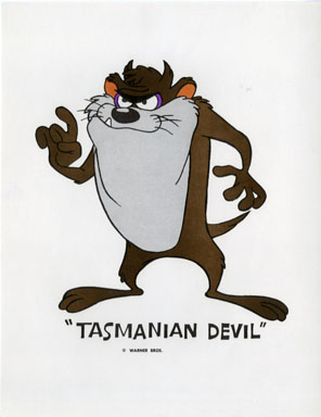TASMANIAN DEVIL - WB CARTOON ANIMATION PROMO PRINT 1971