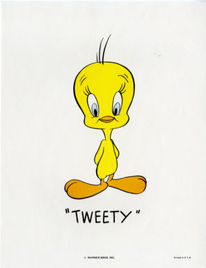 TWEETY - WB CARTOON ANIMATION PROMO PRINT (1971)