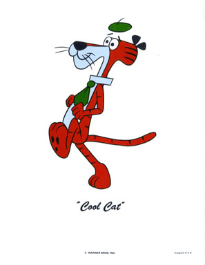 COOL CAT - WB CARTOON ANIMATION PROMO PRINT (1971)