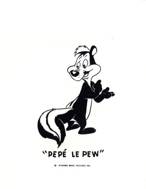PEPE LE PEW - WB CARTOON ANIMATION PROMO PRINT (1971)