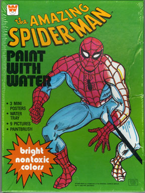 SPIDER-MAN PAINT WITH WATER SET - Random House FILE
