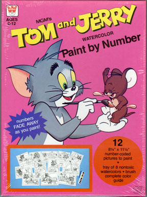 TOM & JERRY PAINT BY NUMBER SET - Random House FILE