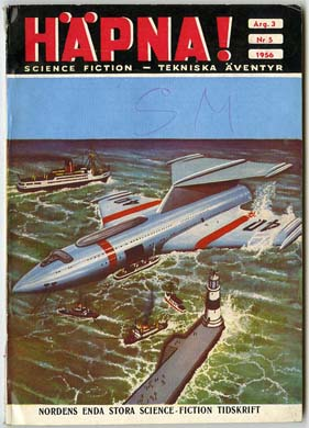 HAPNA! Vol. 3 #5 (1956) SWEDISH SF MAG ARTHUR C. CLARKE