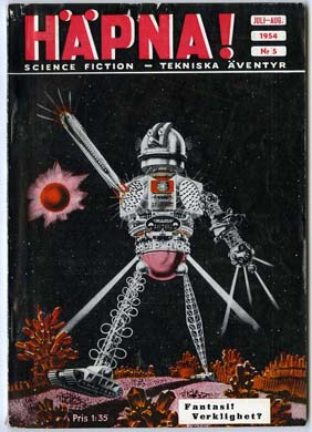 HAPNA! Vol. 1 #5 SWEDISH SF MAG A.E. VAN VOGT SLAN 1954
