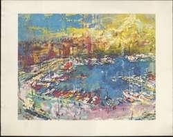 LEROY NEIMAN - VIEUX PORT, MARSEILLES Folgers Promotional Print c1966