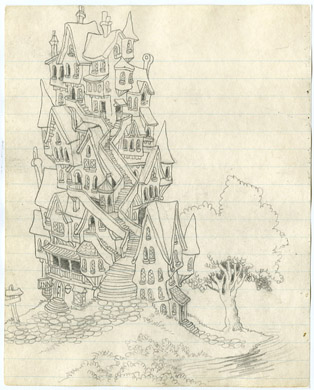 "ROBERT CRUMB - ""THE INN"" SKETCHBOOK ILLO ORIGINAL ART"