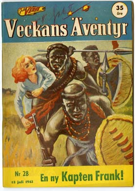 VECKANS AVENTYR #28 Swedish Pulp/Comic 1943 SUPERMAN