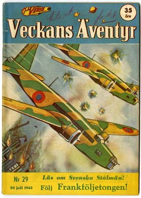 VECKANS AVENTYR #29 Swedish Pulp/Comic 1943 SUPERMAN