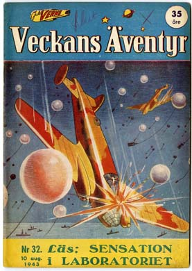 VECKANS AVENTYR #32 Swedish Pulp/Comic 1943 SUPERMAN