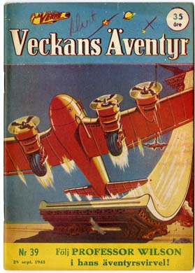 VECKANS AVENTYR #39 Swedish Pulp/Comic 1943 SUPERMAN