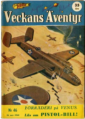 VECKANS AVENTYR #46 Swedish Pulp/Comic 1943 SUPERMAN
