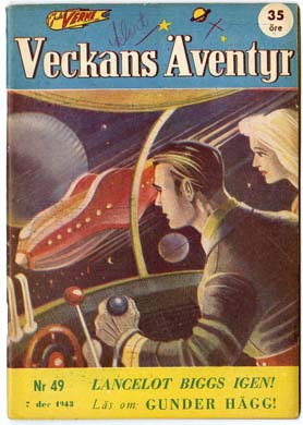 VECKANS AVENTYR #49 Swedish Pulp/Comic 1943 SUPERMAN
