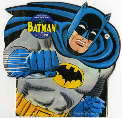 BATMAN - KID'S NOVELTY 45 RPM RECORD (1966) IT'S BATMAN
