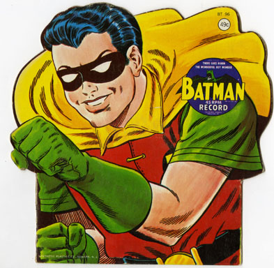 ROBIN (BATMAN) - KID'S NOVELTY 45 RPM RECORD (1966)
