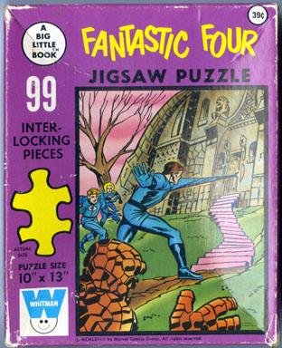 FANTASTIC FOUR BIG LITTLE BOOK JIGSAW PUZZLE (1968)