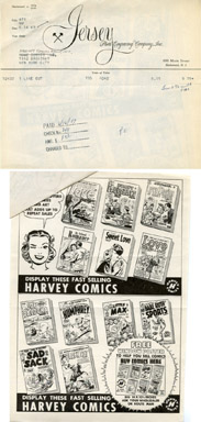 HARVEY COMICS HOUSE AD PROOF / HI-SCHOOL ROMANCE #1 / SWEET LOVE #1 (1949)