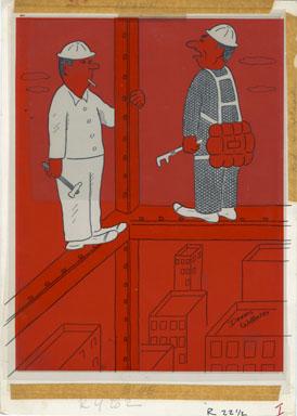 DENNIS WILLIAMS - COMEDY MAGAZINE OCTOBER 1960 ORIG ART