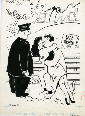 DON ROMANO - ROMP MAGAZINE JUNE 1960 ORIG ART MAKEOUT