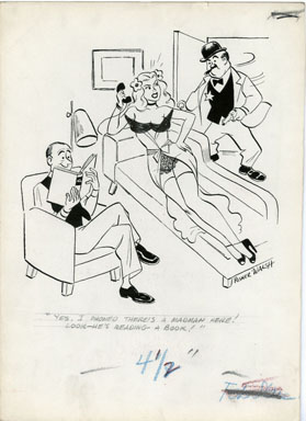 POSNER WALSH - LAUGH DIGEST GAG ORIG ART 1965  LINGERIE