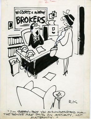 REAMER KELLER - ROMP MAG. GAG ORIG ART 1964 - MATERNITY