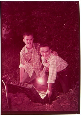 HARDY BOYS PHOTO COVER COLOR TRANSPARENCY / TOMMY KIRK