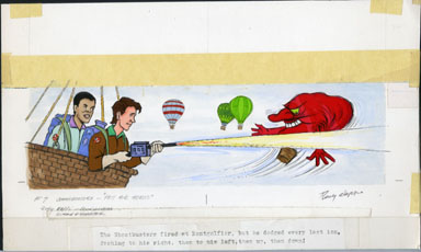 RUDY NAPPI - GHOSTBUSTERS HOT AIR HEROES PG 07 ORIG ART