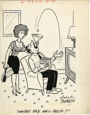 FRANK BEAVEN -LAUGH DIGEST GIRLIE CARTOON ORIG ART 1964