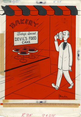 JEFFREY MONAHAN - BREEZY 1959 CARTOON ART DEVIL'S FOOD