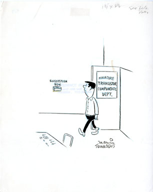 MARVIN TOWNSEND - GAG CARTOON ORIG ART - SUGGESTION BOX
